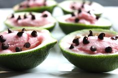 Watermelon Sherbet Cups
