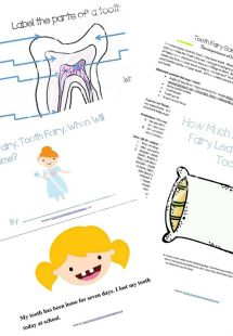 Free Tooth Fairy Learning Printable Pack