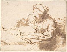 Woman Reading Rembrandt (Rembrandt van Rijn) (Dutch, Leiden 1606–1669 Amsterdam) Date: 1606–69