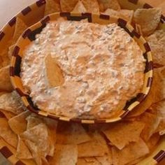 """Cheesy Sour Cream and Salsa Dip 