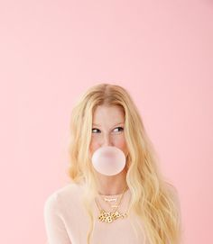 Blonde with pink, business portrait, bubble gum, pink backdrop, professiona Pink Photography, Portrait Photography, Fashion Photography, Pink Backdrop, Studio Shoot, Mean Girls, Photoshoot Inspiration, Studio Portraits, Pink Aesthetic