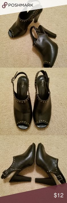 662be21953 BOGO SALE Mossimo Slingback Studded High Heels ❣Excellent Used Condition❣  Beautiful black Mossimo studded