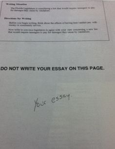 'Your essay'