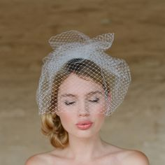 Mini Birdcage Veil #weddings #veil #ruffled #birdcage
