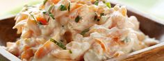 Recipe for FAGE Total Spicy Carrotslaw - great as a salad or a side dish! Carrot Recipes, Healthy Recipes, Clean Eating Recipes, Healthy Eating, Greek Yogurt Recipes, Greek Yoghurt, Shrimp Salad Recipes, Gluten Free Cooking, Dessert