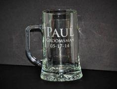 1 Etched Beer Mug Personalized Beer Mug by MemoriesMadeToronto
