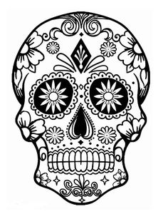 cdigo c 027 simple coloring pagescoloring pages for girlscoloring bookprintable adult coloring pagesmexican coloring pagesfree coloringsugar skull