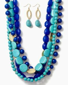 Such fun spring/summer colors: Ara Stone Bead Necklace   Jewelry   charming charlie