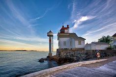 Lighthouse at Filtvet by Tore Heggelund via Flickr