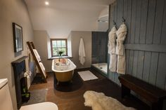Cappele Cottage near Snowdonia, Wales is the perfect destination for much need R    Unwind in the clawfoot bath that looks out on to the hills....    http://www.sheepskinlife.com/relax-at/cappele-cottage/#