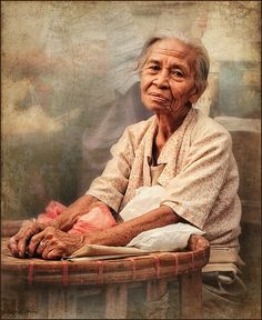 ~ portrait of woman in the Philippines. We Are The World, People Around The World, Philippines People, Philippine Women, Old Folks, Portraits, Interesting Faces, Face Art, Old Women