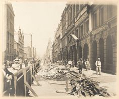 Kent St, Sydney, 1900, was part of the major clearance operation bought on by the plague.