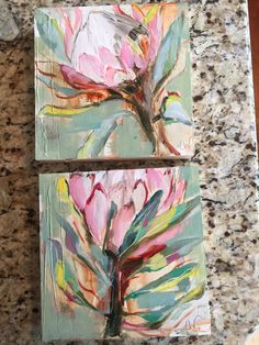 Oil Painting Flowers, Watercolor Flowers, Watercolor Art, Protea Art, Abstract Canvas Art, Tree Art, Ink Art, Gouache, Art Tutorials