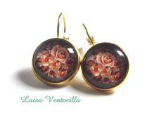 "Ohrringe Cabochon "" Floral"" 14 mm. von Luisa Ventocilla Shop auf DaWanda.com"