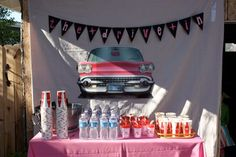 shoobie~dee~doo | My Favorite Everything 50s birthday party such a great idea for drink area
