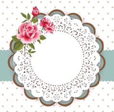 Cuadro Decoupage Vintage, Decoupage Paper, Shabby Chic, Deco Floral, Borders And Frames, Paper Frames, Vintage Tags, Flower Frame, Paper Background
