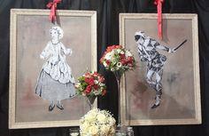 San Valentino, Colombia ed Arlecchino per un matrimonio all'insegna del mistero e della passione.
