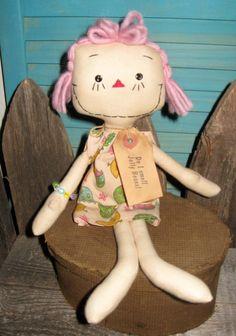 Primitive EASTER Prim Raggedy Ann Doll Sonya by tagalongstreasures, $15.00