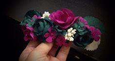 Ultimo encargo flores artesanales de tela