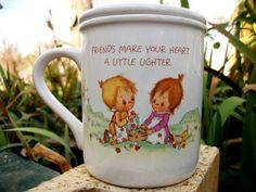 1982 Hallmark Mug Mates Cup With Lid, Betsey Clark Design  by:-MissEleison