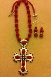 Red Cross made w/ crystal