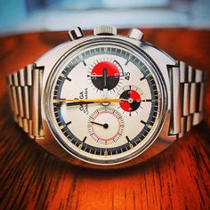 """Vintage OMEGA Seamaster Chronograph """"Soccer Timer"""" Calibre 861 In Stainless Steel Circa 1968"""