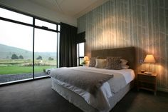 Bedroom at Dunalistair Lodge, Kinloch - 5-Star Boutique Lodge Purpose built 5-star lodge on the links at the Kinloch Golf Course. Interior Design Services including procurement of furniture and fittings by Urban Lounge Interiors