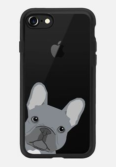 CASETiFY iPhone 7 Case - Grey French Peeking funny french bulldog pet gift for small dog owner perfect gift for frenchie dog owner by Pet Friendly Cool Cases, Cute Phone Cases, Iphone Phone Cases, Iphone 8, Samsung Accessories, Tech Accessories, Funny French, Phone Lockscreen, Best Phone