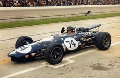 Dan Gurney in car 74 at Indy, 1967. Photo courtesy AAR.