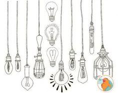 light bulb art drawing - Google Search