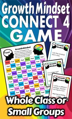 Keep Growth Mindset in front of the students with this fun and engaging game. It's a great way to remind your class to check their thinking. This Connect 4 Game can be played with the whole class or small groups. As you work to help students become more growth-oriented learners why not practice with a game. This resource is intended to give you some tools to keep the discussions going. A fresh new way to look at Growth Mindset.