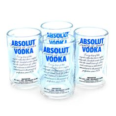 Absolut Shot Glass Set: this is what I need! Absolut is all I drink Cool Shot Glasses, Shot Glasses Display, Shots Shots Shots, Tequila Shots, Shot Glass Set, Absolut Vodka, Cute Kitchen, Cool Mugs, Glass Collection