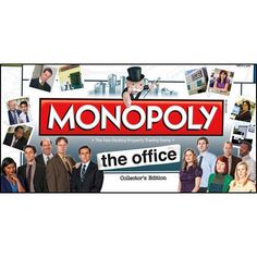 "The Office Monopoly: It's your opportunity to become the ""World's Best Boss"" as you buy, sell and trade your favorite locations from The Office, like Dunder Mifflin Scranton, Michael's Condo or Jim and Pam's House.  $39.99  http://calendars.com/Business-and-Office/The-Office-Monopoly/prod201100007638/?categoryId=cat00106=cat00106#"