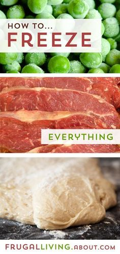 How to Freeze Everything - Fruits, Vegetables, Herbs, Dairy Products, Meat and More food ideas Freezer Cooking, No Cook Meals, Cooking Tips, Food Tips, Cooking Games, Cooking Classes, Cooking School, Cooking Oatmeal, Cooking Pumpkin