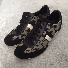Coach Black Sneakers Coach sneakers. They have some minor signs of wear. Priced accordingly. Coach Shoes Sneakers