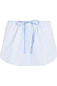 ALEXANDER WANG Striped cotton shorts. #alexanderwang #cloth #shorts