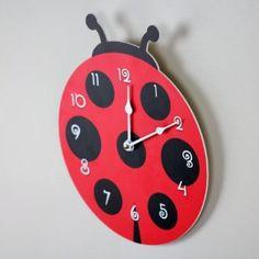 com: Ladybug Wall Clock, Red, Animal Clock CQ Decor: Home & Kitchen Diy Crafts Slime, Preschool Crafts, Diy Resin Lamp, Unusual Clocks, Rustic Wall Clocks, Cat Clock, Clock For Kids, Wall Clock Design, Kitchen Themes