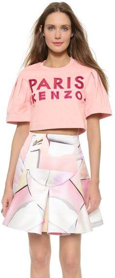 KENZO Paris Cropped Sweatshirt