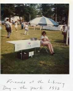 Friends of the Library at Day in the Park 1983.