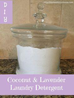 Homemade coconut lavender laundry detergent, good for sensitive skin too