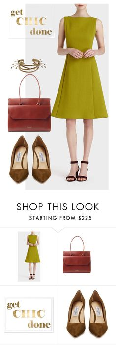 """dress"" by masayuki4499 ❤ liked on Polyvore featuring Lafayette 148 New York, Royal RepubliQ, Oliver Gal Artist Co., Jimmy Choo and Fabio Cammarata"