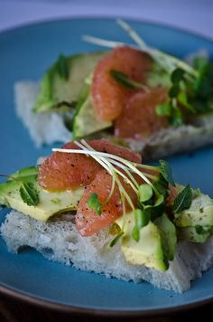 Avocado and grapefruit tea sandwiches with honey lime vinaigrette.  I can't eat grapefruit so I would need to substitute it with something else. Ideas please.