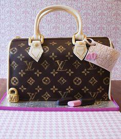 LV louis vuitton [designer purse] birthday cake Lv Handbags, Handbags Online, Louis Vuitton Handbags, Louis Vuitton Speedy Bag, Burberry Handbags, Louise Vuitton, Louis Vuitton Torte, Birthday Cupcakes For Women, Cake Birthday