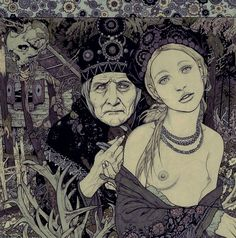 'Fairy Godmother' by Vania Zouravliov. (Click to view larger image.) This is a pic of Baba Yaga...