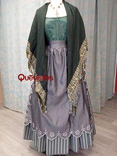 Quevistes Taller de costura: Falda baturra de mujer mod.030