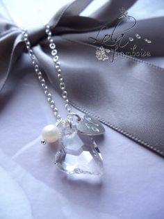 collier pour témoin et demoiselle d'honneur , collier personnalisé, collier à offrir, bijoux mariage, www.lolaframboise.com