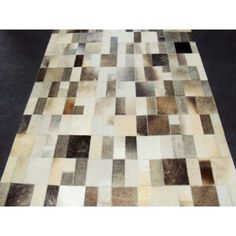 Modern Rugs Patchwork Disruption II Neutral Area Rug Rug Size: 3' x 5'