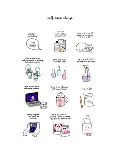 roaring-softly: self care things by tyler feder buy a print here! roaring-softly: self care things by tyler feder buy a print here! Vie Positive, Positive Thoughts, Self Care Activities, Self Improvement Tips, Self Care Routine, Coping Skills, Self Help, Self Love, Inspirational Quotes