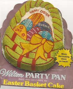 Wilton Cake Pan: Easter Basket with Eggs (502-1727, 1980) ** You can get additional details at : Baking pans