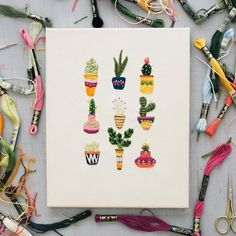 "4,682 Likes, 19 Comments - Sandra Apperloo (@artisticmoods) on Instagram: ""Colorful cacti embroidery by @trueforthaus. Love!  #trueforthaus #embroidery"""